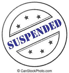 """estampilla, """"suspended"""""""
