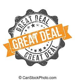 estampilla, viejo, vendimia, impresión, usado, grande, deal/, inscription.