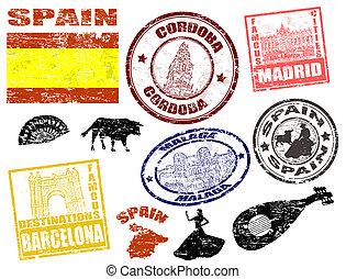 Estampillas con España