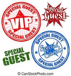 Estampillas de invitados especiales