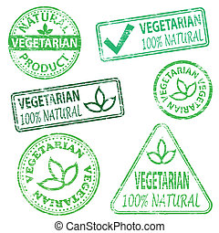 Estampillas vegetarianas