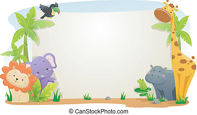 Estandarte animal Safari