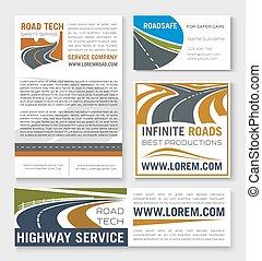 Estandarte de construcción de carreteras