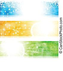 Estandarte de explosión de luz