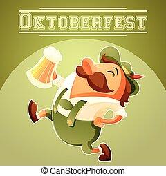Estandarte del festival de cerveza Oktoberfest