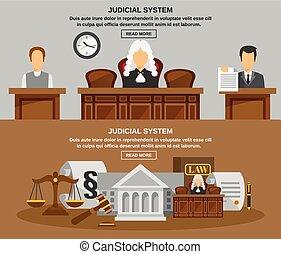 Estandarte legal fijado