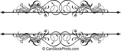 Estandarte ornamental de belleza