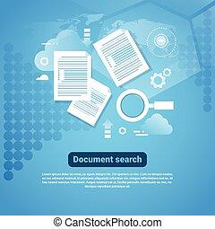 Estandarte web con el concepto de búsqueda de documentos espaciales copiado