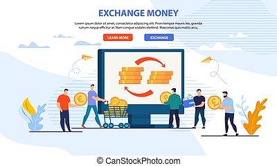 Estandarte web para el servicio de dinero en internet