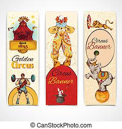 Estandartes antiguos del circo