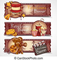 Estandartes de cine retro