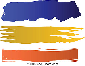 Estandartes de color del vector