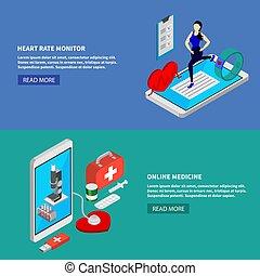 Estandartes de medicina móvil