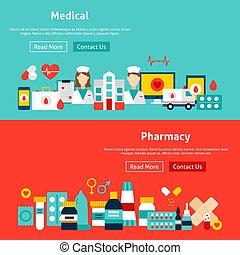 Estandartes de medicina web