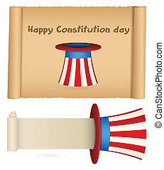 Estandartes de pergamino constitucionales