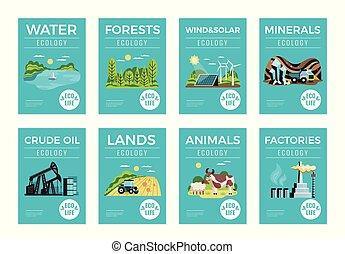Estandartes de recursos ambientales naturales establecidos