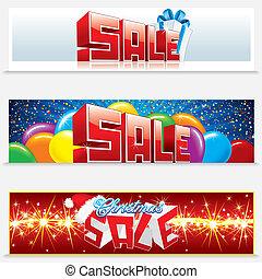 Estandartes de venta de Navidad