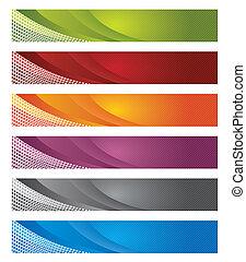 Estandartes digitales en línea de gradiente