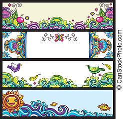 Estandartes florales (serie flotante)