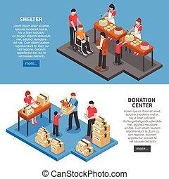 Estandartes horizontales de caridad