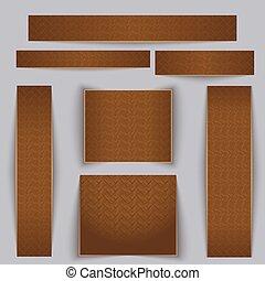 Estandartes texturados. Textura de parquet de arce.