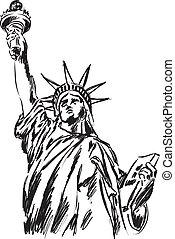 Estatua de ilustración de libertad