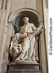 Estatua en calzoncillos