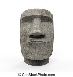 Estatua Moai aislada