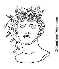 estatua, moda, antigüedad, diosa, clásico, afrodita, venus