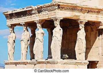 Estatuas de Porche de los karyatides, Atenas