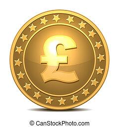 esterlina, signo., libra, moneda de oro
