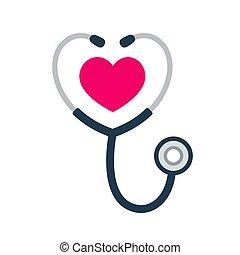 Estetoscopio icono del corazón