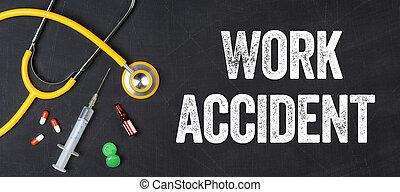 Estetoscopio y fármacos en un accidente de trabajo