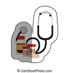 Estetoscopio y medicina de diseño médico