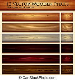 Estiércol de madera ilustrada