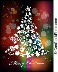 Estilizado fondo colorido con elementos navideños