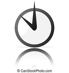 estilizado, reloj