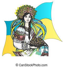 estilizado, ucrania, imagen, welcome!