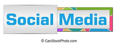 Estilo botón colorido de las redes sociales