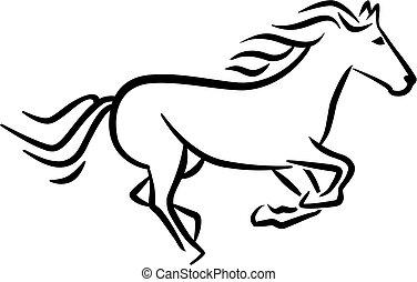 Estilo caballo de carreras