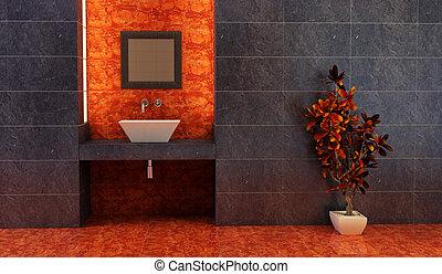 Estilo chino interior de baño