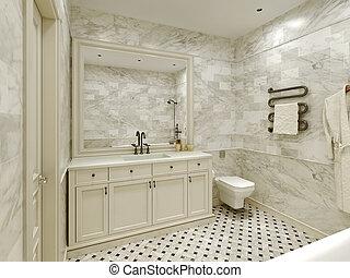 Estilo clásico del baño