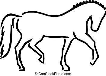 Estilo de dibujo de caballo