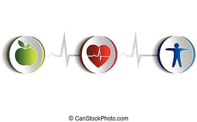 estilo de vida, símbolos, sano