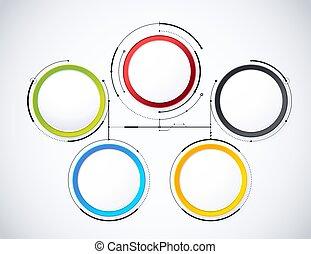 Estilo diagrama digital. Diagrama y gráfico de la tecnología concepto, presentación. Ilustración de vectores.