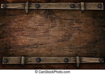 estilo, espacio, occidental, libre, madera