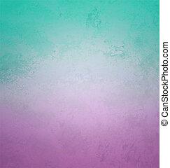 estilo, gradiente, colores, papel, retro, violeta, cian