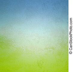 estilo, gradiente, colores, papel, verde, retro, cian