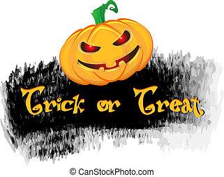 Estilo Grunge fondo de Halloween con calabaza