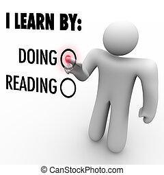estilo, lectura, contra, escoger, aprender, educación, hombre